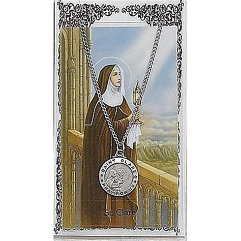 st sets for card st clare prayer card set psd600cl stella maris books