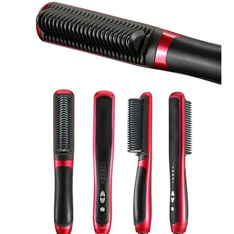 magic hair comb straightener 5pcs digital tourmaline ceramic comb flat instant magic