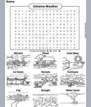printable word search hurricanes severe weather word search worksheet hurricane tornado