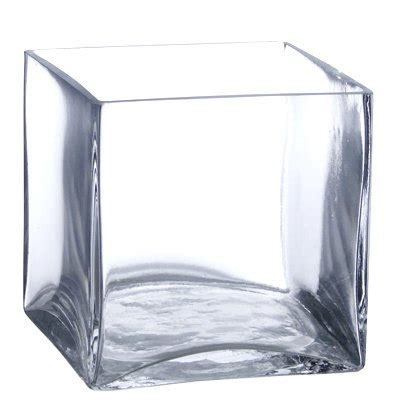 Clear Square Vase by 6 Pack Clear Square Glass Vase Cube 5 Inch 5 X 5