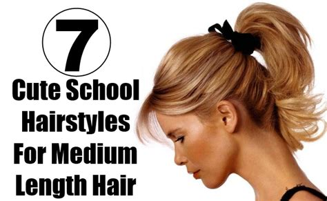 Hairstyles For Medium Hair For School For by The Gallery For Gt Simple Hairstyles For School For
