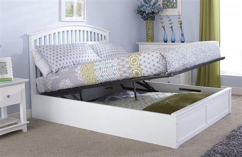 ottoman kingsize bed frame madrillo white kingsize ottoman storage bed frame