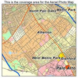 aerial photography map of atherton ca california
