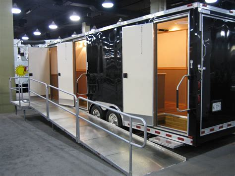 trailer bathroom a restroom trailer keeps your event or work clean