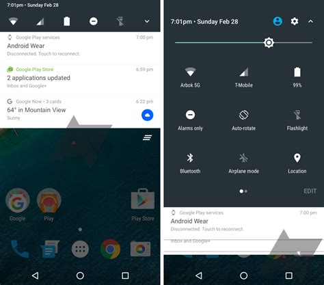 android n un premier aper 231 u de panneau de notifications frandroid - Notification Settings Android