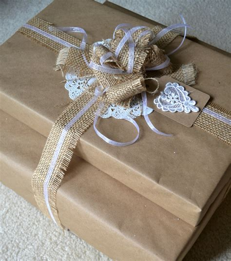 Brown Paper Bag Gift Wrap - simple nature decor