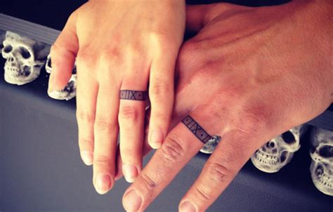 Wedding Tattoos by 20 Magnificent Wedding Ring Tattoos Ideas Sheideas