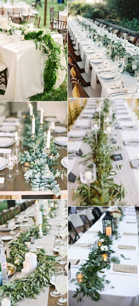 greenery table runner 60 amazing greenery wedding details for your big day 2017