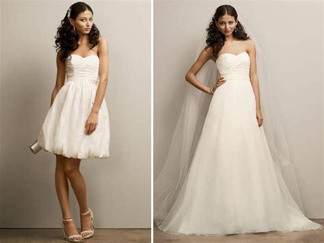 2 In 1 Hochzeitskleid by Sweetheart Neckline 2 In 1 Wedding Dress From David S