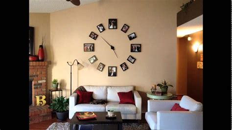 wall clock for room creative wall clock photo display design for minimalist living room decorating ideas