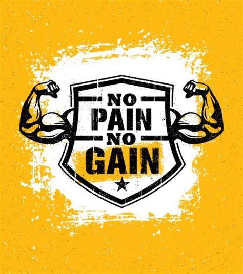pain  gain logo stock vectors royalty   pain