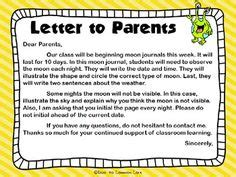 Parent Letter For Thematic Unit 1000 Images About Moon Journal On Journals The Moon And Moon Phases