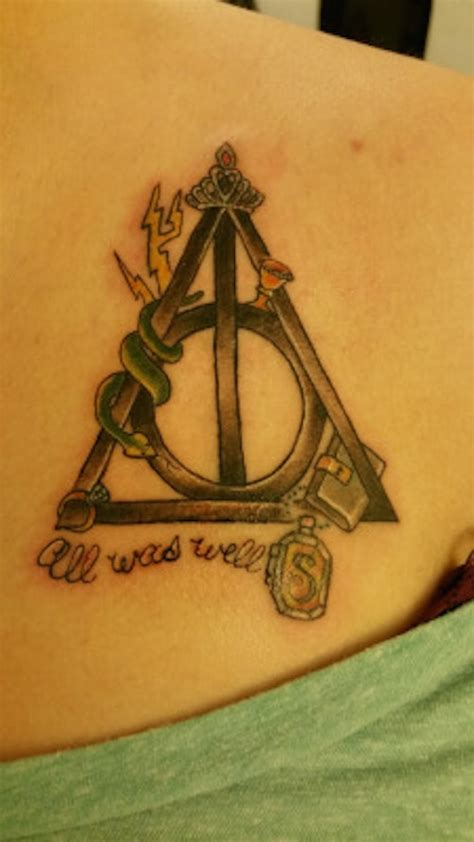 harry potter tattoos ink done right