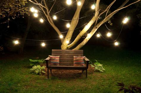 Backyard Patio Lights Outdoor String 15 Light Clear Incandescent Bulb 48 Black Patio Home Decor Ebay