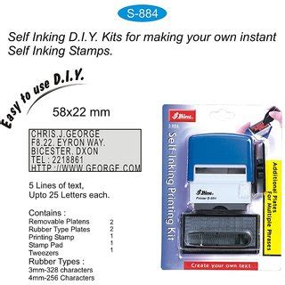 self inking rubber sts cheap buy shiny s 884 self inking st printing kit diy set