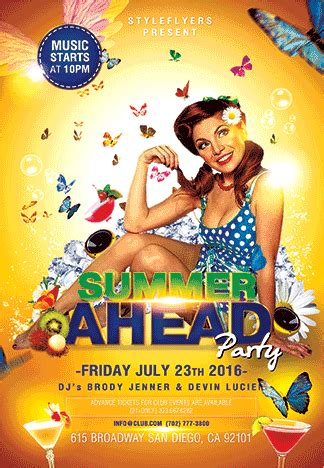 Summer Ahead Psd Flyer Template With Animated Fully Animated Flyer Templates