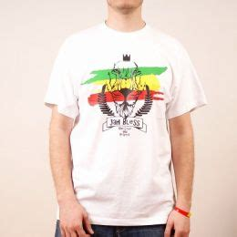 Kaosbajut Shirt Reggae Jah Bless You s 187 t shirts 187 t shirt jah bless one and respect white nuff respekt roots