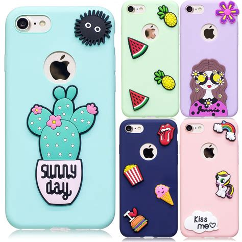 Iphone 55sse66s66s 77 3d Cactus phone for iphone 6 s capa soft 3d cactus food