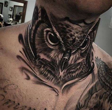 tattoo designs on neck for men 30 owl neck designs for tattoos for