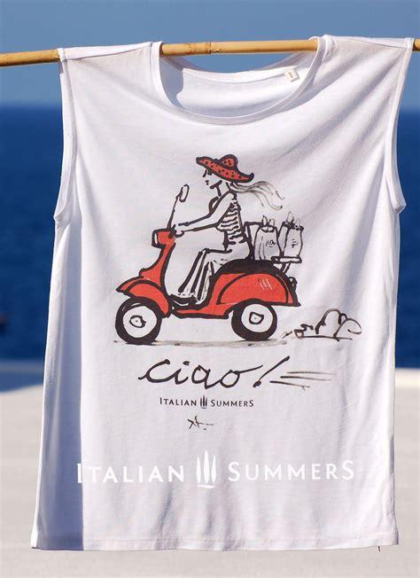 Tshirt Vespa One Tshirt t shirt vespa ciao shirt with vespa print handpainted