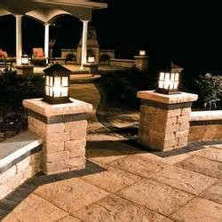 Patio Pillar Lights 1000 Images About Patio Pavers On Pits Patio And Fireplaces