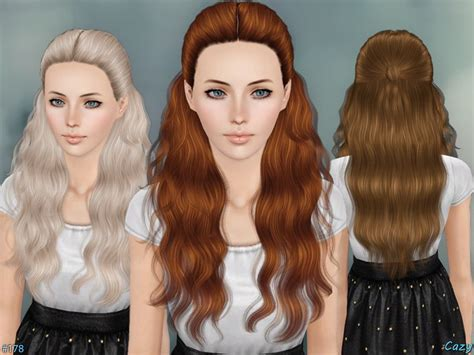 sims 3 hair cc hairstyle for female teen through elder found in tsr