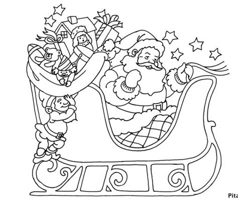 summer santa coloring page art craft for kids pitara kids network