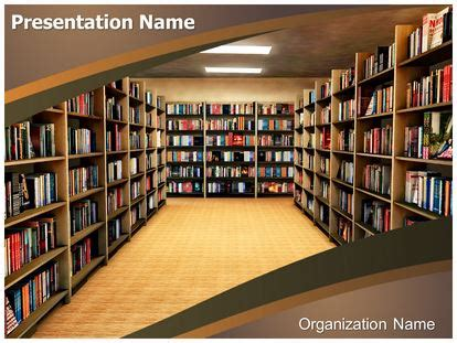 reference books in the library ppt library bookshelf powerpoint template background