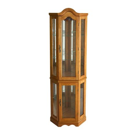 corner curio cabinet amazon amazon com southern enterprises lighted corner display