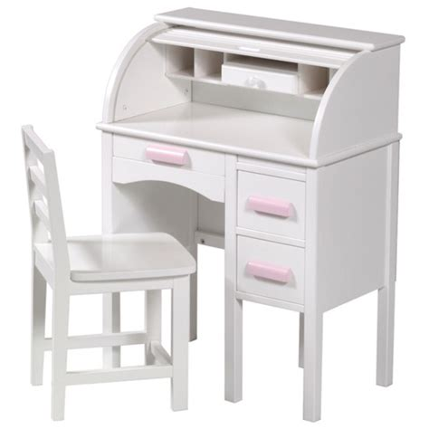 White Childs Desk guidecraft jr rolltop desk in white from kid s playstore