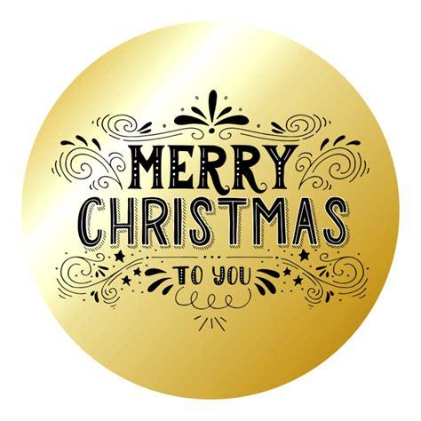 Aufkleber Frohe Weihnachten by Merry Gold Stickers Set 2