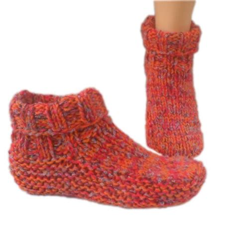 easy knit slipper pattern easy knit slipper socks pattern slipper sock patterns