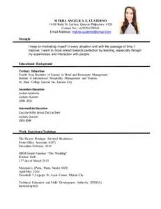 Formal Resume by Formal Resume Mykha 1