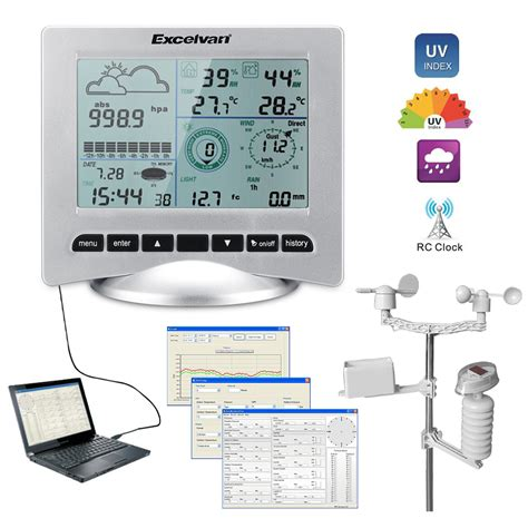 pro home usb digital wireless weather station temp wind