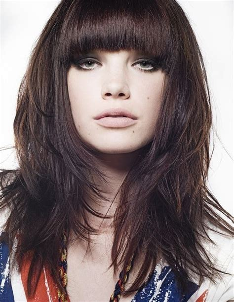 difference between blunt and rounded bangs 87 best bangs images on pinterest hairstyles with bangs