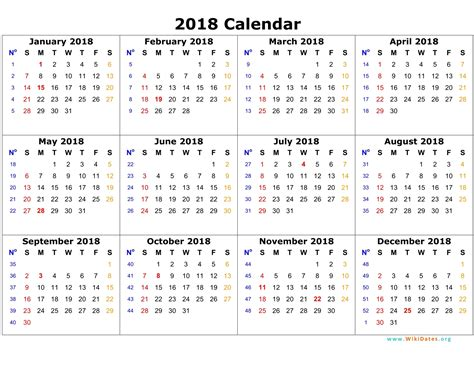 Calendar 2018 Year Yearly Calendar 2018 Weekly Calendar Template