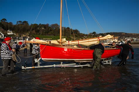 boat building lyme regis launching their self built boats boat building academy