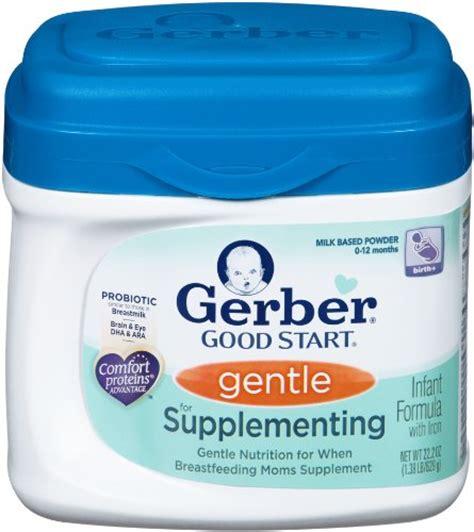 supplementing 4 month with formula gerber start gentle for supplementing powder infant