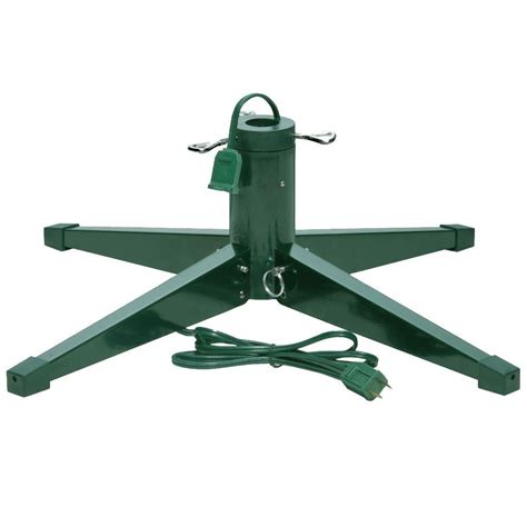 rotating christmas tree stand home depot national tree company metal revolving tree stand for artificial trees rs 2 the home depot