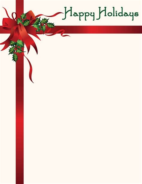 christmas letterhead happy holidays wholesale stationery