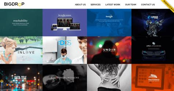best design big drop inc leading website design firms 10 best design