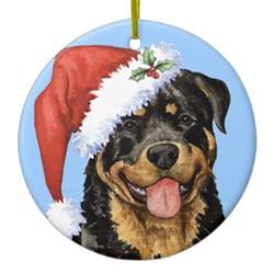 happy howliday rottweiler christmas ornament zazzle