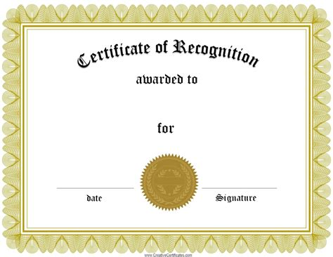 certificate of recognition and appreciation paperdirects