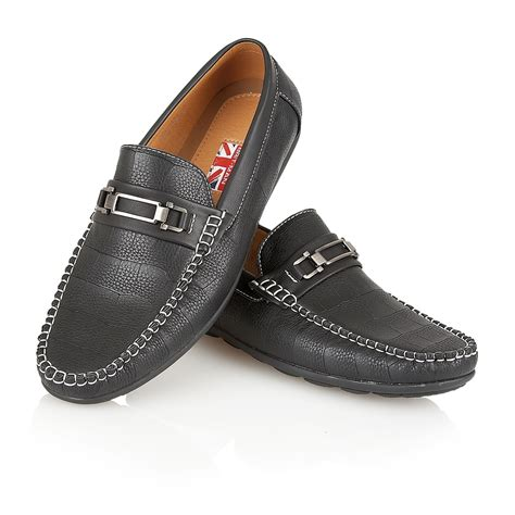 mens designer loafers mens designer leather look italian loafers casual moccasin