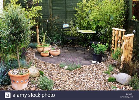 Small Pebble Garden Ideas Pebble Garden With Bamboo Sandringham Flower Show Designer Nicola Stock Photo Royalty Free