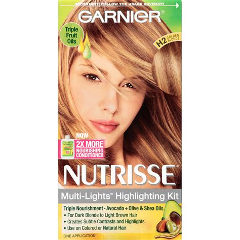 highlighting hair kits garnier h2 golden blonde toffee swirl multi lights