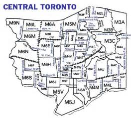 toronto postal code map canada post central toronto postal codes tomaps