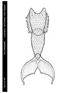 paper doll template mermaid tail by maduntwoswords on