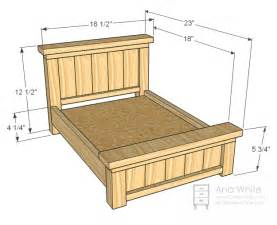 Farmhouse Bed Plans Ana White Doll Farmhouse Bed Diy Projects