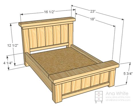 american girl doll bed plans ana white doll farmhouse bed diy projects